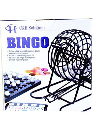 Bingo Cage Game Deluxe (C&H Solutions Deluxe Bingo Set, Complete Bingo Game Set, Rotary Cage With Automatic Bingo Set By)