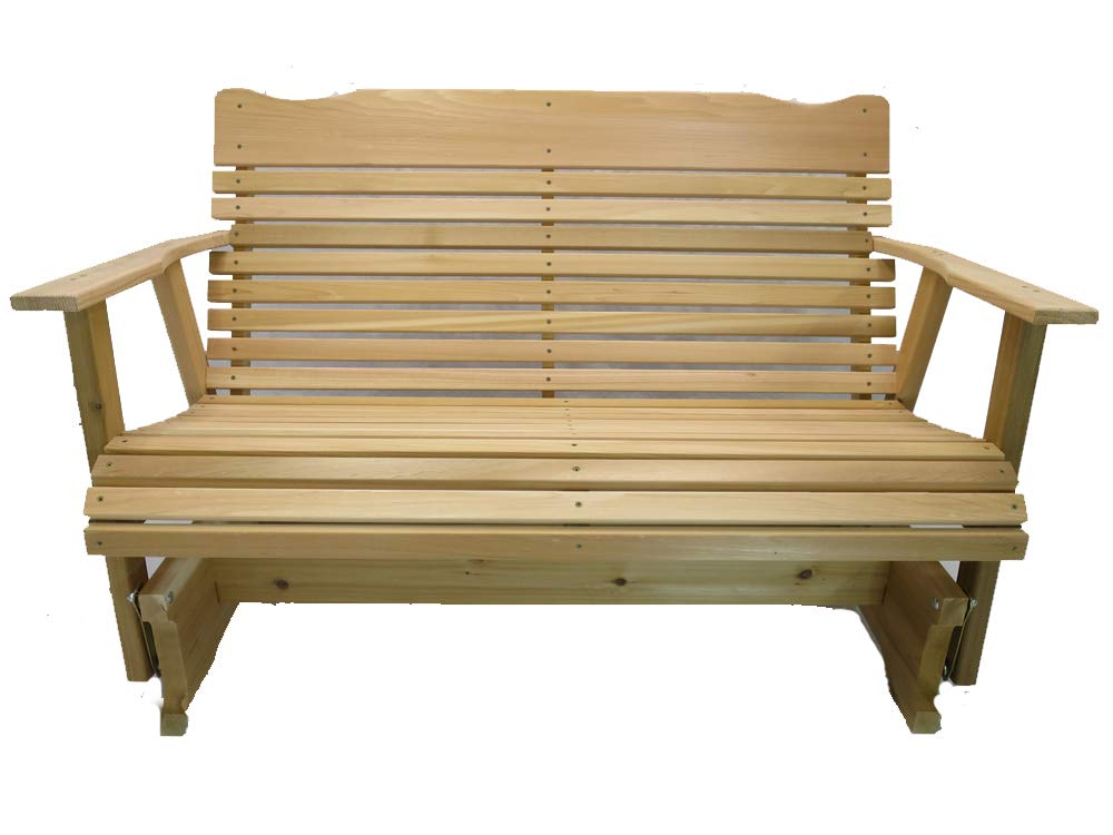 Kilmer Creek 4' Natural Cedar Porch Glider, Amish Crafted by Kilmer Creek