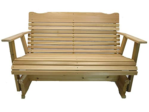 Kilmer Creek 4 Natural Cedar Porch Glider, Amish Crafted