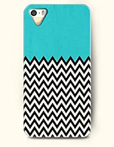 OOFIT Aztec Indian Chevron Zigzag Native American Pattern Hard Case for Apple iPhone 5 5S ( iPhone 5C Excluded ) Black Tribal Zigzag In The Ocean