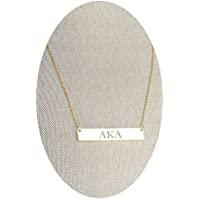 Alpha Kappa Alpha Sorority AKA Greek Letter Bar Necklace