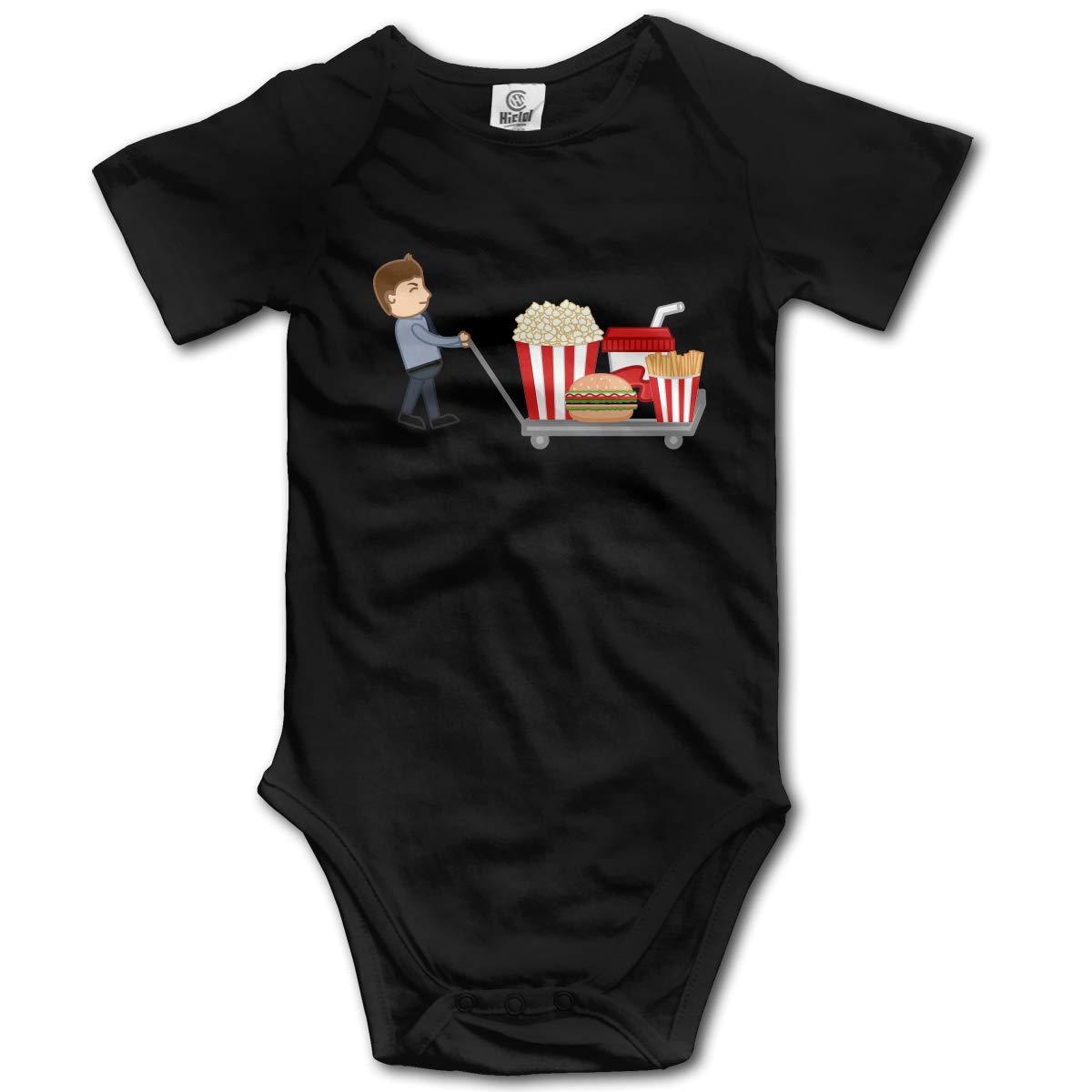 XHX Newborn Baby Hamburgers French Fries Cola Popcorn Short Sleeve Romper Onesie Bodysuit Jumpsuit