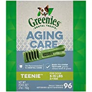 GREENIES Aging Care TEENIE Size Dental Dog Treats, 27 oz. Pack