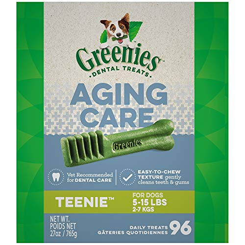 GREENIES Aging Care TEENIE Size Dental Dog Treats, 27 oz. Pack