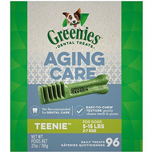 (GREENIES Aging Care TEENIE Size Dental Dog Treats, 27 oz. Pack)