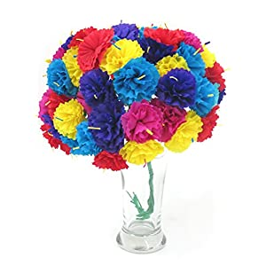 Leos Imports (TM) Carnation Mexican Paper Flower Bouquet 33