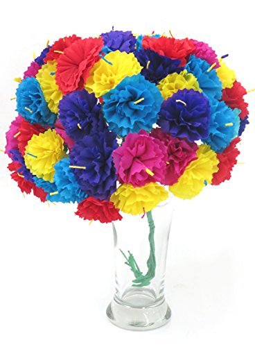 Leos Imports (TM) Carnation Mexican Paper Flower Bouquet (Mexican Flower Bouquet Paper)