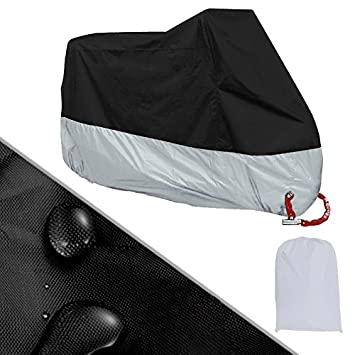 Satisfr Housse de protection antipoussi/ère UV imperm/éable antipoussi/ère de couverture ext/érieure de moto en Polyester M-4XL