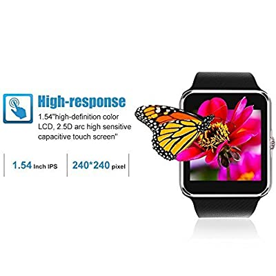 Smartlife Sweatproof Smart Watch Phone for iPhone and Android SmartPhones Include Micro SD Card