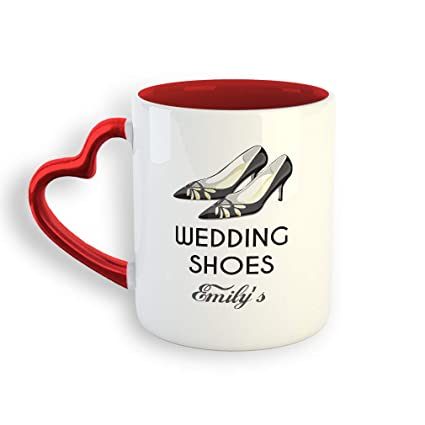 63f637df447b7 Amazon.com: Personalized Custom Wedding Shoes Ceramic Valentine's ...