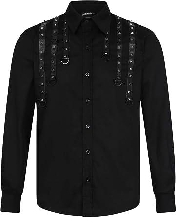 Lost Queen Camisa Negra Alternativa para Hombre Ivan - Negro ...