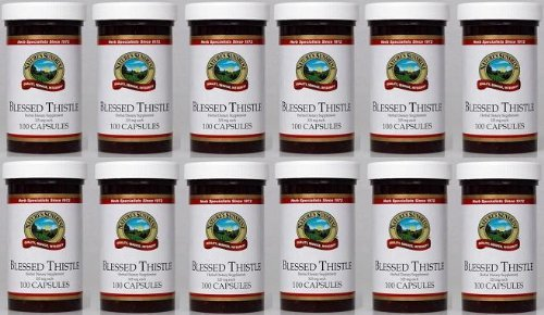 Naturessunshine Blessed Thistle Glandular System Support Herbal Dietary Supplement 325 mg 100 Capsules (Pack of 12) by Natures Sunshine