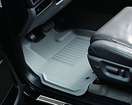 3D MAXpider Front Row Custom Fit All-Weather Floor Mat for Select Mercedes-Benz ML-Class/GL-Class Models - Kagu Rubber (Gray)