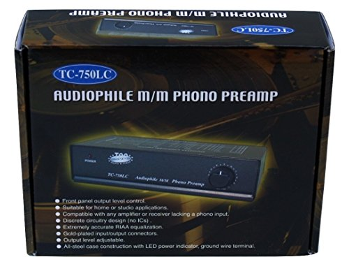 Technolink TC-750 Audiophile RIAA Phono Preamp, 85dB S/N, BLACK or SILVER, Your CHOICE (SILVER w/1000mA adaptor upgrade) by TEC (Image #6)
