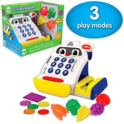 The Learning Journey Electronic Learning - Shop and Learn Cash Register - Interactive Preschool Toys & Gifts for Boys & Girls Ages 2 and Up - Award Winning Toy