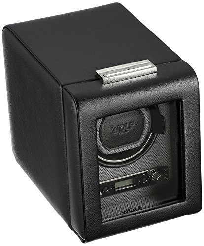 WOLF 456002 Viceroy Single Watch Winder with Cover, Black by WOLF