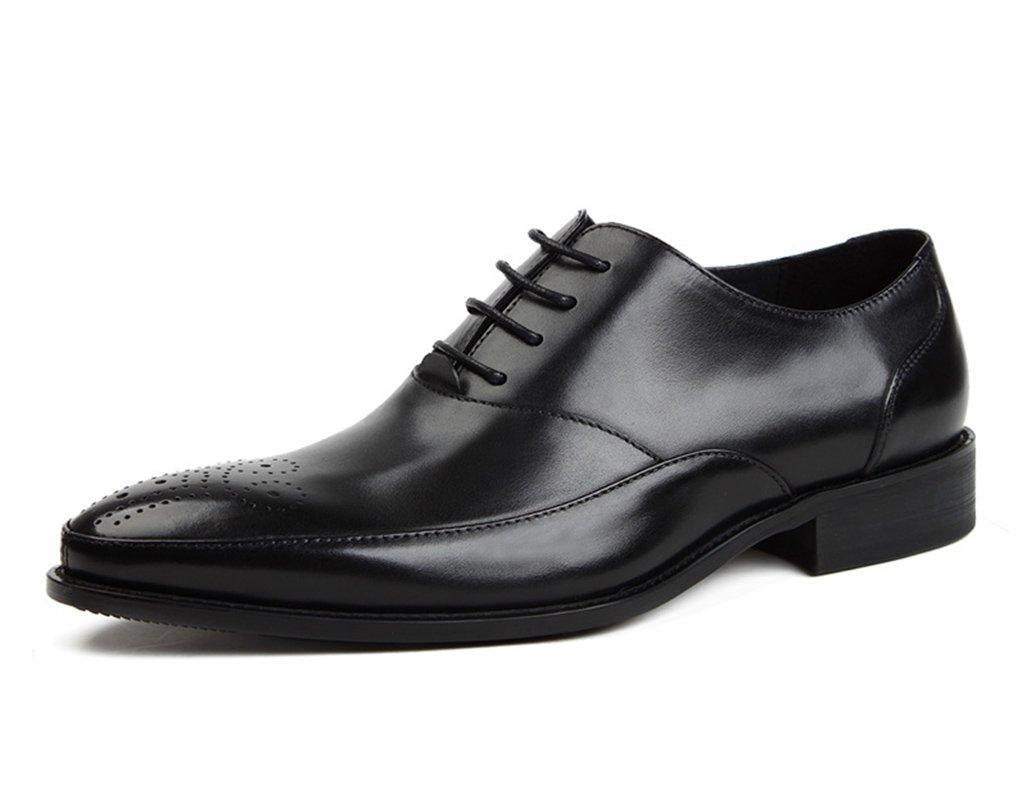 Zapatos Clásicos de Piel para Hombre Zapatos de Cuero de los Hombres Zapatos de Estilo Formal de Negocios de Desgaste Formal de Estilo Británico (Color : Negro, Tamaño : EU 41/UK7) EU 41/UK7 Negro