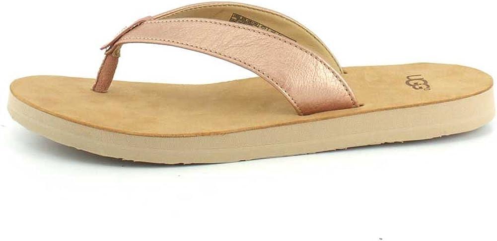 UGG Tawney Metallic, Sandale Femme Rose Gold