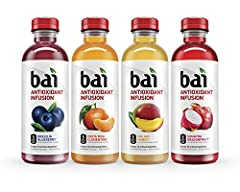 Bai Antioxidant Infused Beverages deliver delicious fruity refreshment without unwanted sugar and calories. Infused with antioxidants and made with no artificial sweeteners, each beverage in the Bai Rainforest Variety Pack has only 5 calories...