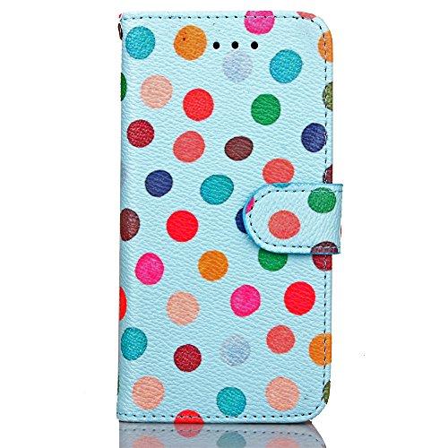 Funda Libro para iPhone 7,Manyip Suave PU Leather Cuero Con Flip Cover, Cierre Magnético, Función de Soporte,Billetera Case con Tapa para Tarjetas, Funda iPhone 7 B