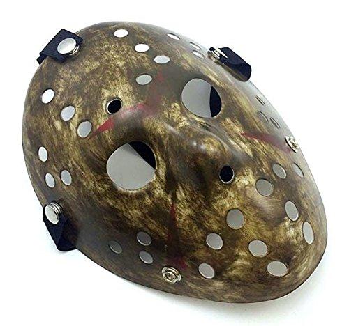 Gmasking Friday The 13th Horror Hockey Jason Vs. Freddy Mask Halloween Costume Prop (Gray) (Freddy Mask)