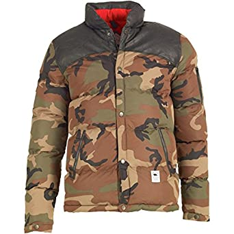 afe7a808595af Andoy Camo Camo/Black Bellfield Mens Andoy Camouflage Print Puffa Jacket  Camo - S Small To Fit 36-38 Chest (92-97cm): Amazon.co.uk: Clothing