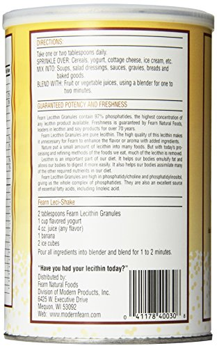 Fearn Natural Foods Lecithin Granules, 16 Ounce by Fearn (Image #3)