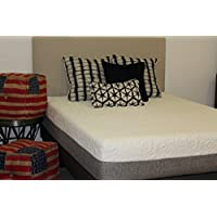 MADE IN THE USA 12 Inch Plush Short Queen Cool Sleep Gel Memory Foam Mattress with Premium Textured 8-Way Stretch Cover for Campers, Rvs and Trailers
