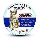 TORRIX Cats Flea & Tick Collar – 8-Month Flea Prevention Cat Collar – Adjustable & Waterproof Cat Flea & Tick Control