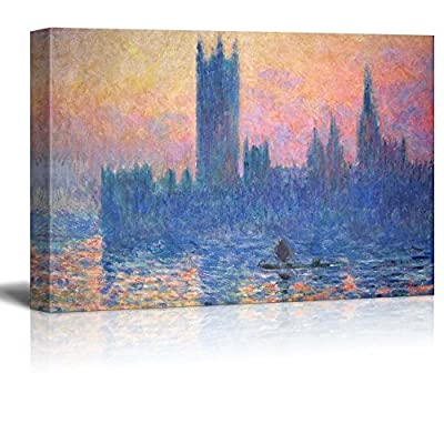 Pretty Expertise, Quality Artwork, The Houses of Parliament Sunset by Claude Monet Impressionist Art