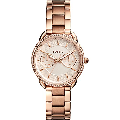 Fossil Women's 'Tailor' Quartz Stainless Steel Casual Watch, Color:Rose Gold-Toned (Model: ES4264) by Fossil