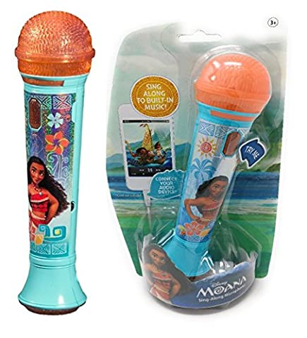 Disney Moana - SING -ALONE MP3 MICROPHONE - Sing Along With This Super Cool Microphone! Featuring Build-in Music from the Movie and Flashing Lights to Create the Ultimate Concert Right at - Sing Along Microphone