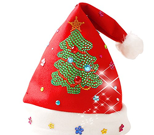 Christmas Diy Tree Costume (Meelino Merry Christmas DIY Craft Kits Hat for Kids Educational Handmade Toys (Kids, Christmas)