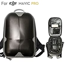 """DJI Mavic Pro Hard Shell Backpack, Upgraded Most Compact Hardshell Case (13.5x 9.3x 5.7"""" Only & Could Carry 3 Batteries ) Waterproof Anti-Shock PC Carrying bag or Mavic Pro and Accessories"""