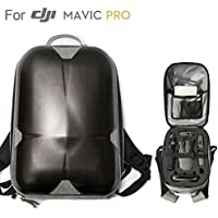 DJI Mavic Pro Hard Shell Backpack, Upgraded Most Compact Hardshell Case (13.5x 9.3x 5.7 Only & Could Carry 3 Batteries ) Waterproof Anti-Shock PC Carrying bag or Mavic Pro and Accessories