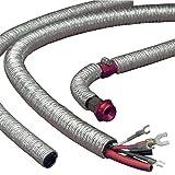 DEI 010406 Cool-Tube Heat Reflective Sleeve, 0.75'' x 36'' - Silver