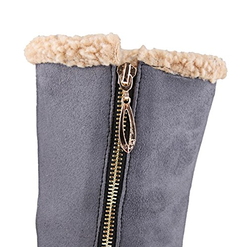 Half Size Warm Colors Grey Boots 4 Women Sjjh Large And Low Zip With