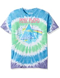 Liquid Blue Mens Pink Floyd Dark Side Oil Paint Tie Dye Short Sleeve T-Shirt T-Shirt