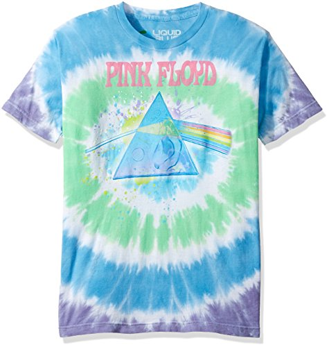 - Liquid Blue Men's Pink Floyd Dark Side Oil Paint Tie Dye Short Sleeve T-Shirt, Multi, Medium