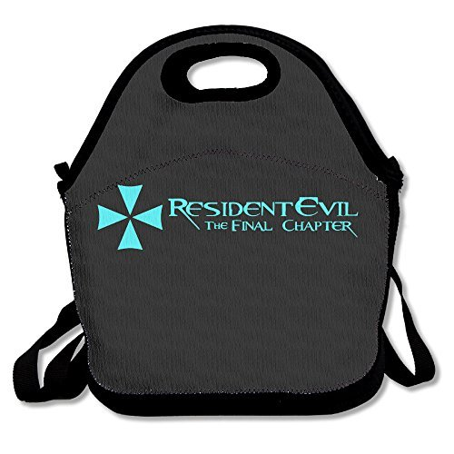 Resident Evil Lunch Bag Lunch Boxes, Waterproof Outdoor Travel Picnic Lunch Box Bag Tote With Zipper And Adjustable Crossbody Strap