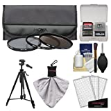 Hoya 67mm 3-Piece Digital Filter Set (HMC UV Ultraviolet, Circular Polarizer & ND8 Neutral Density) with Case + Tripod Kit for Canon, Nikon, Sony, Olympus & Pentax Lenses