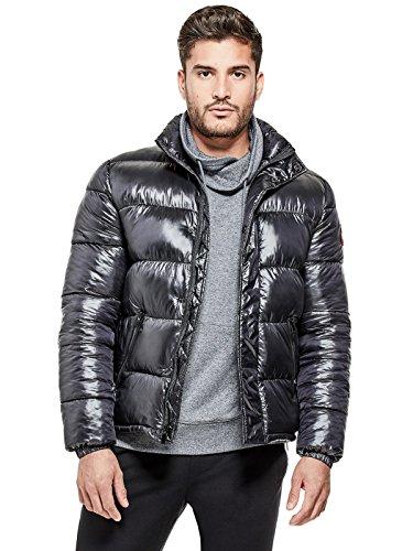 41aafa065b47 GUESS Factory Men s Steel Luster Puffer Jacket - Import It All