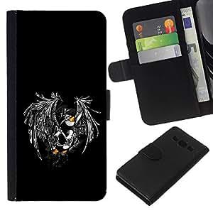 All Phone Most Case / Oferta Especial Cáscara Funda de cuero Monedero Cubierta de proteccion Caso / Wallet Case for Samsung Galaxy A3 // Funny Flying Penguin