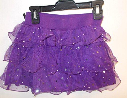 (K-mart Purple Stardot Ruffled Skirt Child Costume L 10-12)