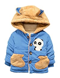 Happy Cherry Baby Kids Boys Cute Panda Jacket Coat Hoodie Outerwear Snowsuit