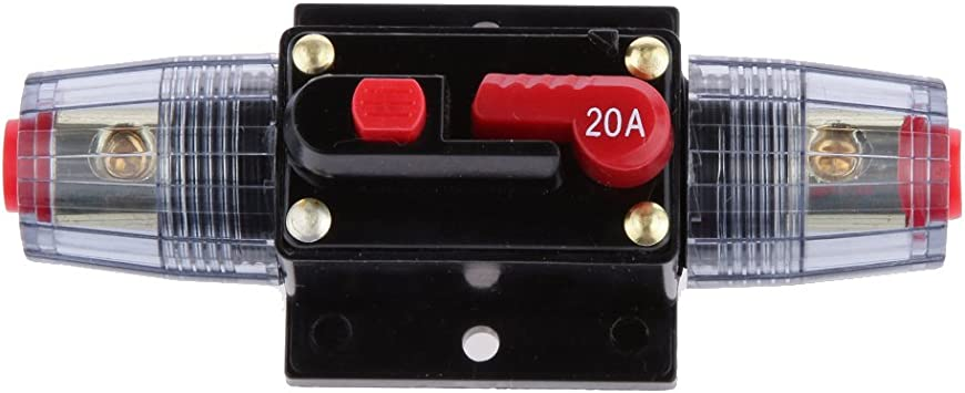 20AMP Manual Reset Switch Circuit Breaker 12V-24V Inline Auto Waterproof