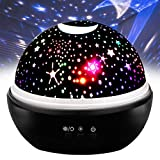 TOP Gift Cool Stuff Toys for 1-6 Year Old Boys, Night Light Moon Star Projector Best Gifts for Kids Toys for 1-6 Year Old Girls 2018 Christmas New Gifts for Kids Boys Girls 1-6 Black TGUSXXK07