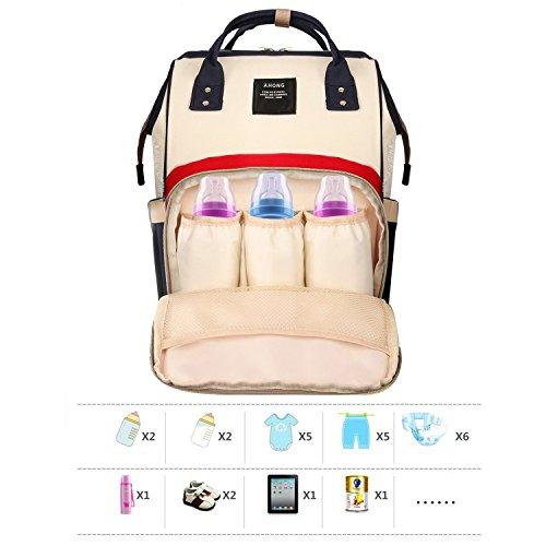 Waterproof Diaper Bag Red - 6