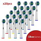 Oliver James Replacement Toothbrush heads - Compatible with Oral B Electric Toothbrushes - 20 pack