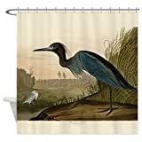 CafePress Audubon Blue Crane Heron from Birds of America Sho Decorative Fabric Shower Curtain (69''x70'')